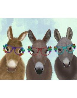 Donkey Trio Flower Glasses