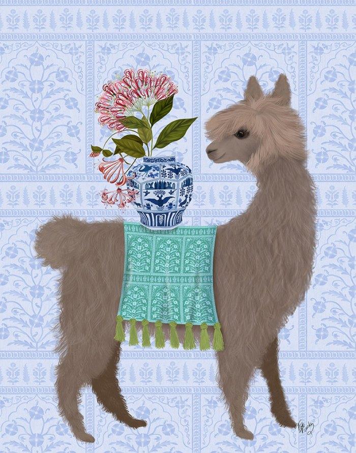 Llama Chinoiserie 1
