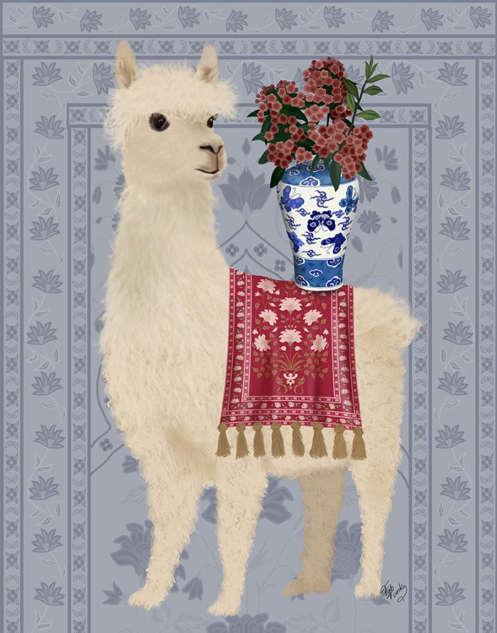 Llama Chinoiserie 2