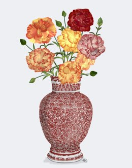 Chinoiserie Carnations Multicolour