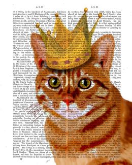 Ginger Cat with Crown
