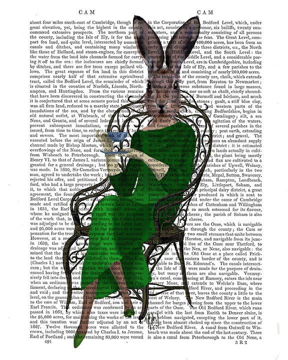 Lady Bella Rabbit Taking Tea