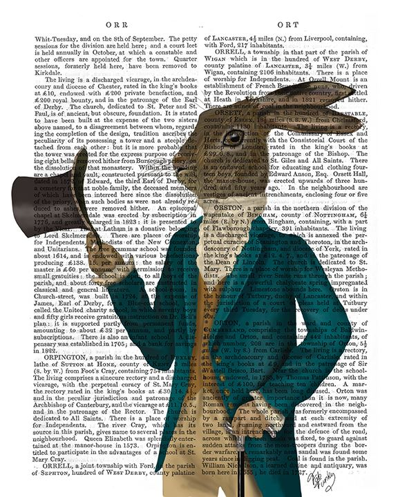 Hare In Turquoise Coat