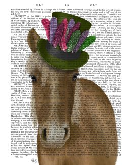 Horse with Feather Hat