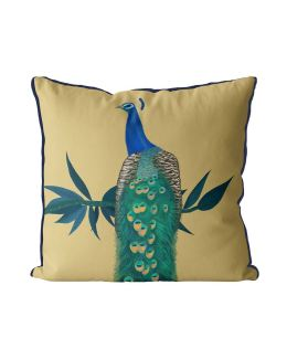 Peacock On Branch on Gold
