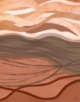 Sandy Bay 2 Abstract Art Print