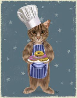 Tabby Cat Donut Chef Full
