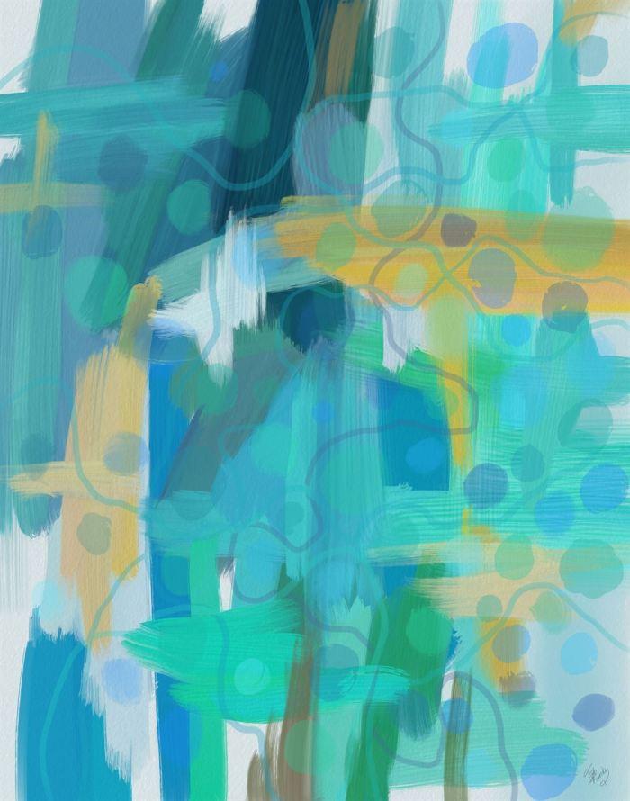 Blue Harmonies 1 Abstract Art Print