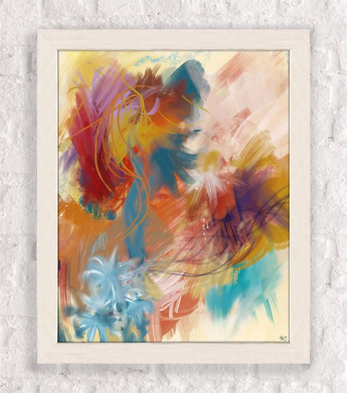 Floral Carnival 1 Abstract Art Print