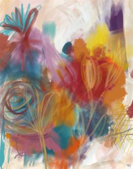 Floral Carnival 2 Abstract Art Print