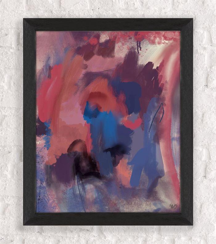 Wild Hearts Spirit 2 Abstract Art Print