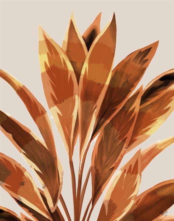 Dracaena 1 Tropical Leaf Art Print