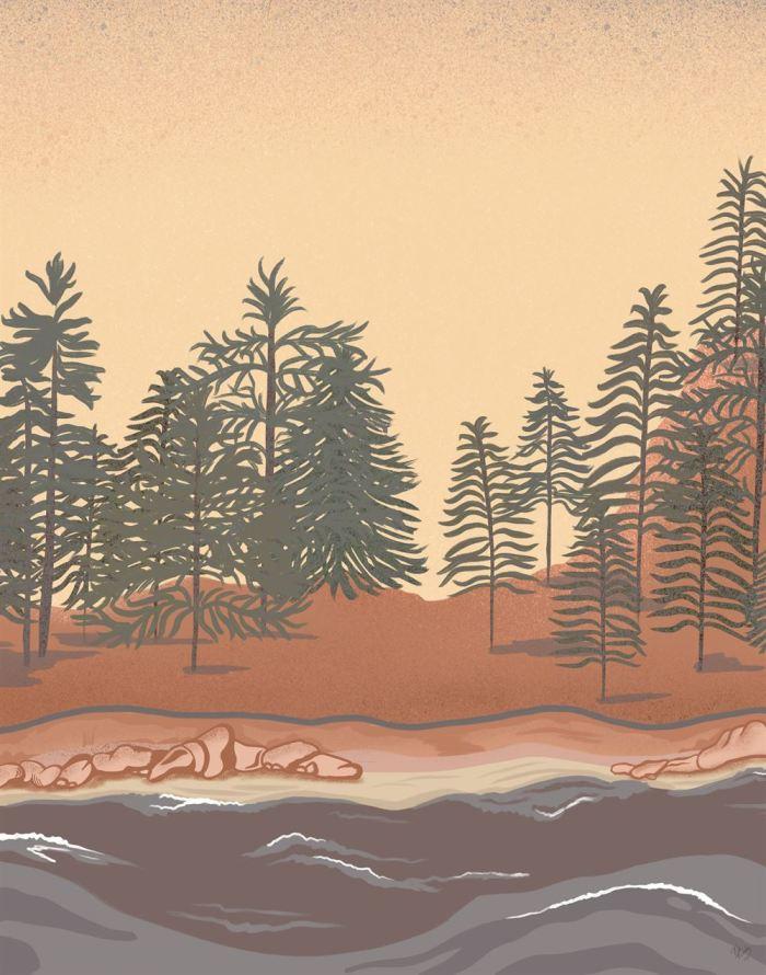 Pine Grove 2 Art Print