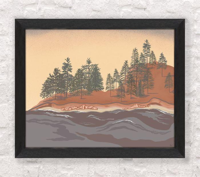 Pine Grove Landscape Art Print