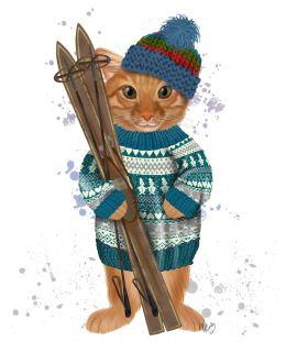Ginger Ski Cat