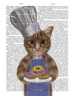 Tabby Cat Donut Chef Portrait