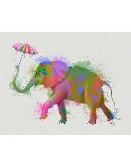 Elephant Rainbow Splash