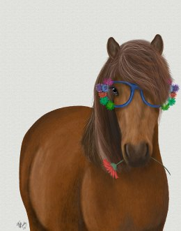 Horse and Flower Glasses