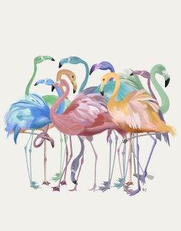 Flamingos in Pastels
