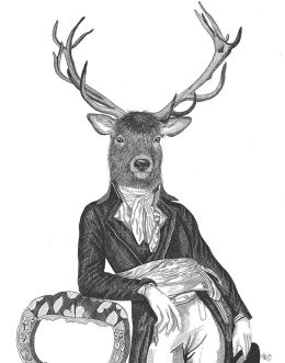 Portrait of Deer and Chair