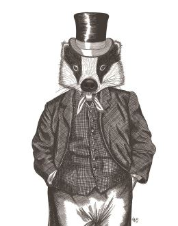 Portrait of Badger in Checked Waistcoat