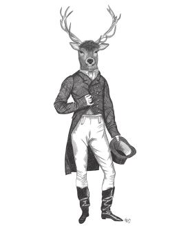 Deer Top Hat and Tails