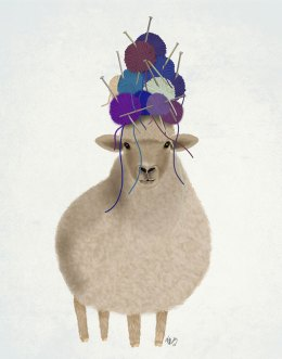 Sheep with Wool Hat