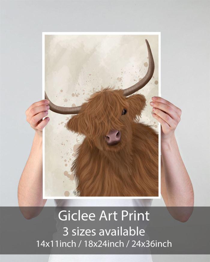 Animal Art Print  Print 24x36in -