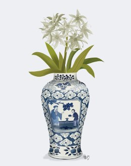 Chinoiserie Day Lily White
