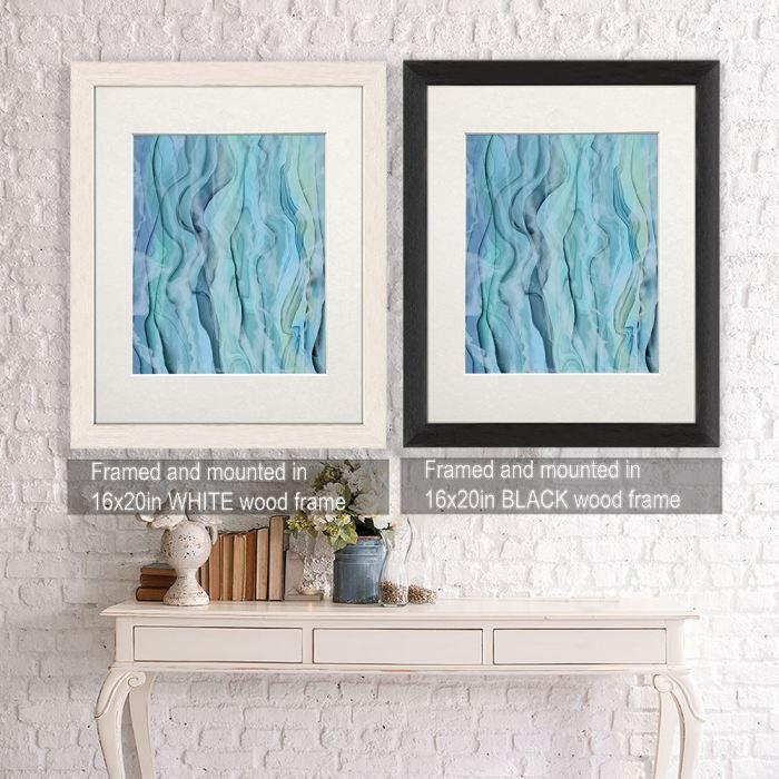 Nautical canvas art Framed White