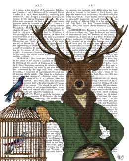 Deer and Bamboo Cage
