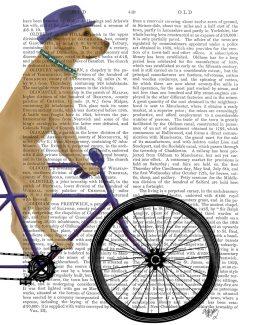 Yellow Labrador on Bicycle