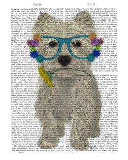 West Highland Terrier Flower Glasses