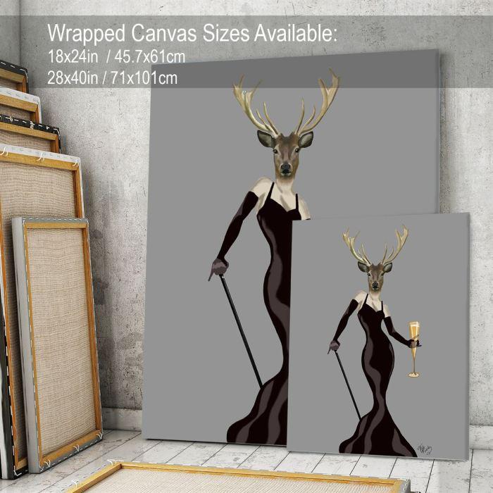 Glamour Deer in Black