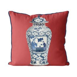 Chinoiserie Cherry Blossom Picker on Red