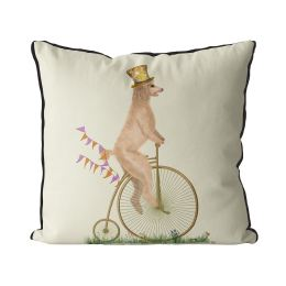Poodle White on Penny Farthing