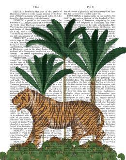 Tiger in palms