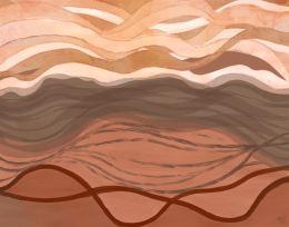 Sandy Bay Vista Abstract Art Print
