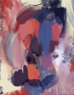 Wild Hearts Spirit 1 Abstract Art Print