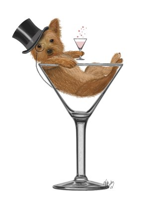 Yorkshire Terrier in Martini Glass