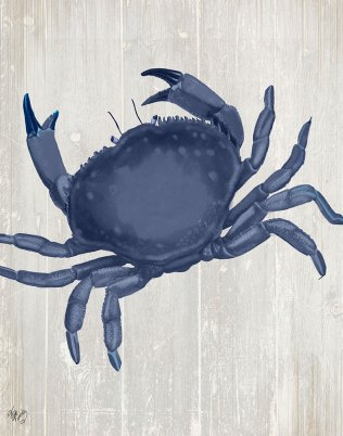 Blue Crab On Grey 2
