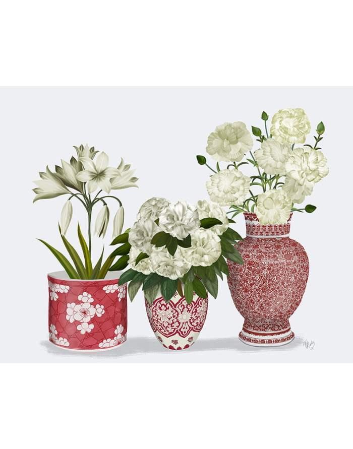 Chinoiserie Flower Trio 1