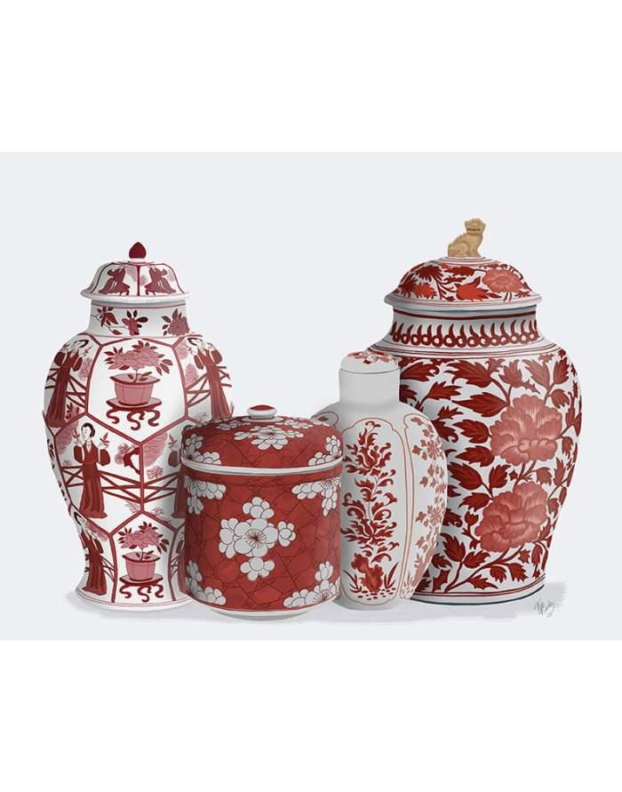 Chinoiserie Vase Quartet 2