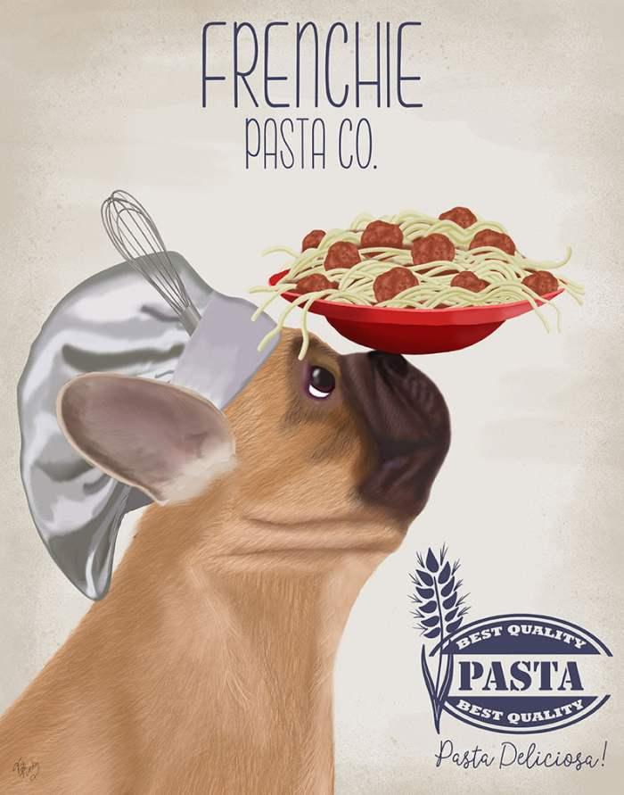 French Bulldog Fawn Pasta Cream