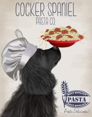 Cocker Spaniel Black Pasta Cream