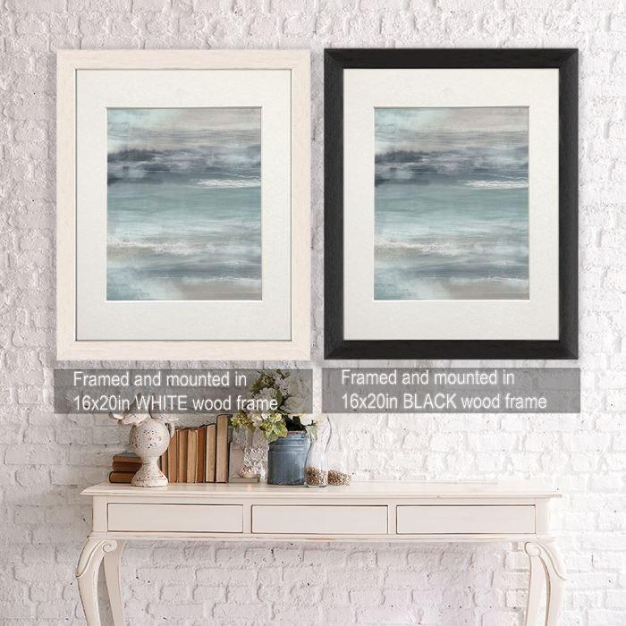 Nautical canvas art Framed Black