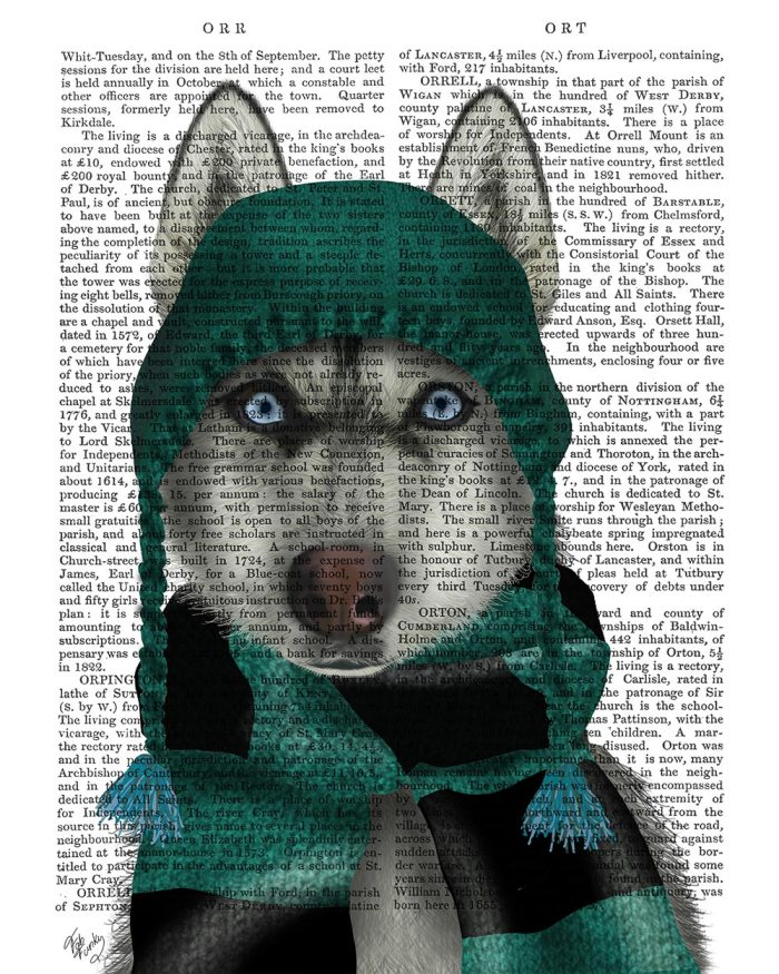 Husky in Hat and Scarf