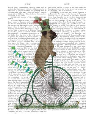 Pug on Penny Farthing