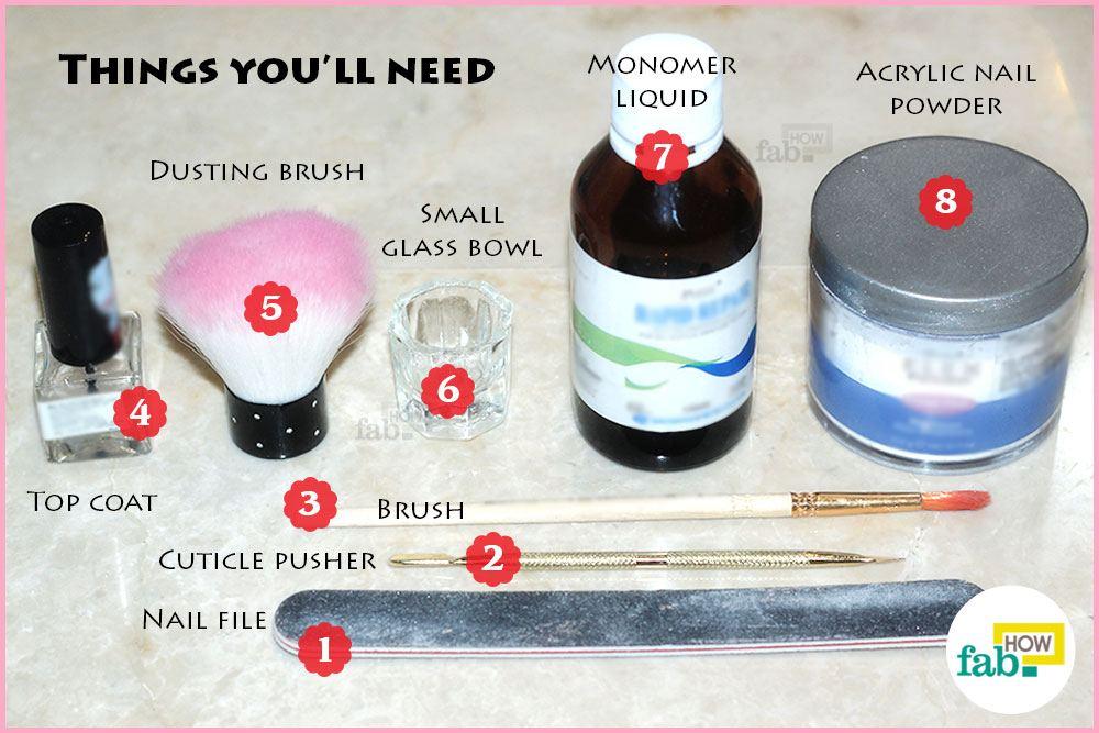 Maintain Acrlic Nails Things Need