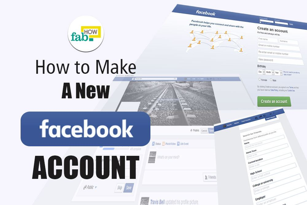 Account New New Facebook Create